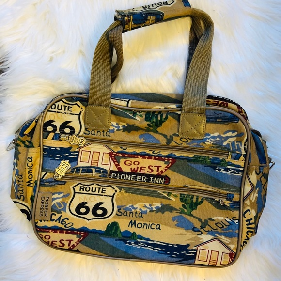 Route 66 Handbags - Route 66 vintage Pioneer Express Roadtrip bag